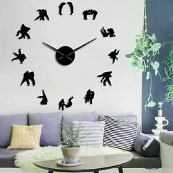 Geometric Abstract Silhouette Wall Clocks Antique Styles Large Clock Home Decors $35.14