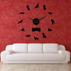 Wall Art Decorations Dog Clocks Home Accessories Antique Styles Plastic Material $34.19