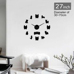 Single Face Form Geometric Shaped Frameless Wall Clock Antique Styles Home Décor $34.19