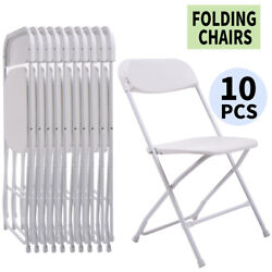 10 PACK Plastic Folding Chairs White Commercial Wedding Quality Stackable