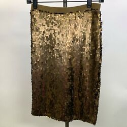 New York amp; Company Women#x27;s X Small XS Old Brass Brown Skirt Sequins NWT $19.99