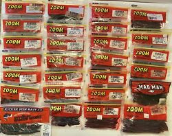 Large Assortment Zoom Kicker and Mad Man Fishing Worms $52.00