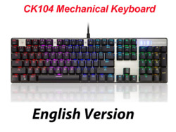 Mechanical Keyboard MOTOSPEED CK104 Gaming Red Switch Only for Gamer $54.99