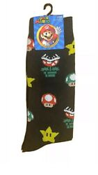New Super Mario Mens Novelty Crew Socks With TOAD Size 10 13 $5.99