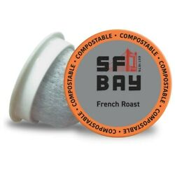 SF Bay Coffee French Roast Dark Roast 80 Ct Compostable Coffee Pods K Cups $27.99