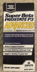Super Beta Prostate P3 Advanced Reduce Urination 60 Caplets 2023 $22.99