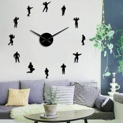 DIY Wall Clock Motivation Bodybuilding Designing Antique Styles Single Face Form $41.79