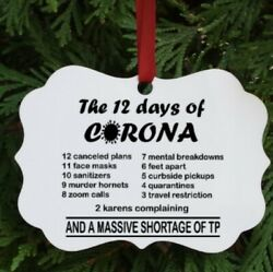 2020 Christmas Ornament 12 Days of Corona Ornament $12.99