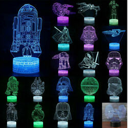 3D led Night Light Touch Bedside Lamp 7 Colors Changing LED Lamps Perfect Gifts $10.99