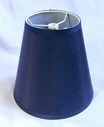 Contemporary Urbanest Blue Fabric Empire Drum Tapered Lamp Shade 8 1 2quot; $14.50