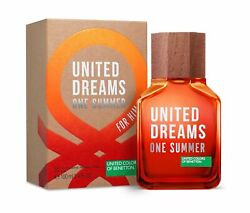 United Dreams One Summer for Him United Colors of Benetton 3.4 oz EDT spray NIB $21.99
