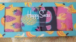HAPPY SOCKS FRUITY PATTERN DRESS SIZE W 10 M 8 12 SOCKS NWT pack of 4 lot $36.00