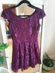 Purple Cocktail Party Dress 26in w $30.00