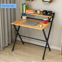 Folding Study Desk For Small Space Office Desk Simple Laptop Writing Table Set $69.99