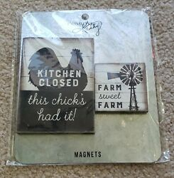 Set of 2 Kitchen Themed Refrigerator Magnets from Primitives by Kathy $9.99