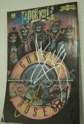 Guns N Roses Signed Comic Book Rock N Roll By 5 Musicians 1990 $120.00