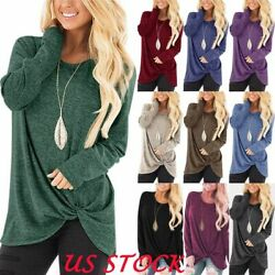 Women Casual Long Sleeve T Shirt Blouse Loose Pullover Tunic Tops Tee Size S XXL $12.77