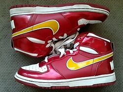 Nike Dunk Mid Red Yellow Swoosh 344572 671 Youth Kids Size 6.5Y Shoes Sneakers $45.00