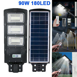 Ultra Bright 900000LM Commercial Solar LED Street Light Outdoor Road LampRemote