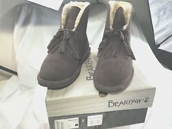 """Bear Paw Boots Women Christie Size 8 """"Fig"""" Plumish color $22.85"""