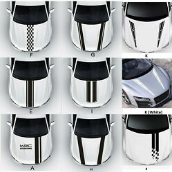 Universal Fit Racing Hood Stripes Decal Vinyl Stickers for Car SUV Truck $11.99