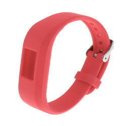 Adjustable Silicone Wrist Watch Band Strap Buckle for Garmin 3 Red $6.91