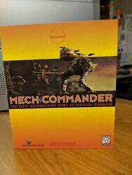 Mech Commander First Mechwarrior Game *Absolutely Complete* PC CD ROM BIG BOX $50.00