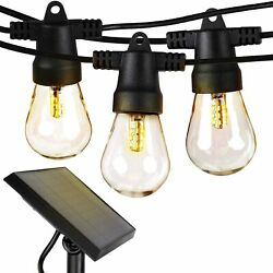 Brightech Ambience Pro Solar Power LED Edison Bulb Outdoor String Lights 48 Ft