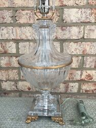 VINTAGE SCHONBEK CRYSTAL CLASSICAL TABLE LAMP WITH SHADE MINT WOW $499.00