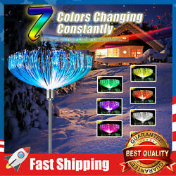 Multi Colored Solar Stake Garden Lights Waterproof Outdoor Decorative for Yard $23.99