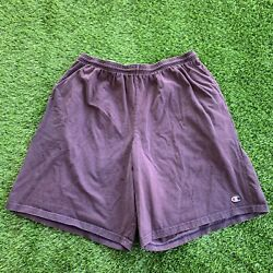 Vintage Champion Shorts Faded Purple 2XL $19.99