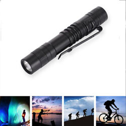 LED Flashlight Cree XPE R3 Clip Mini Pen Type Portable Torch Lamp for Camping $6.93