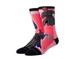 Stance Star Wars SW Sith Crew Black Multi Color Socks U545D19SWS BLK Large $20.00