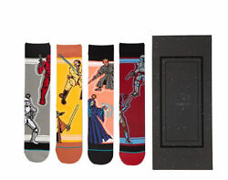 Stance Star Wars SW Duos 4 Pack Box Set Crew Socks U545D19SWP MUL Large $100.00