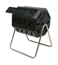 FCMP Outdoor IM4000 Tumbling Composter 37 gallon Black $105.87