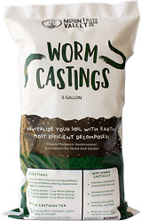 Earth Worm Castings – Organic Red Worm Compost Soil Amendment 1 Cubic Foot $99.99