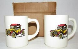 2 Chevrolet Ceramic Mugs featuring 1913 Chevy MIB from Chevy Dealership $12.00
