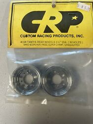 """Vintage RC Parts CRP Rear Chrome Wheel Covers 1 1 2"""" For Tamiya $20.00"""