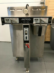 Fetco CBS 52H 15 Stainless Steel Twin Automatic Batch Coffee Brewer 208 240v $1500.00