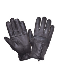 Unlined Motorcycle Driving Gloves Leather Biker Gloves $12.99