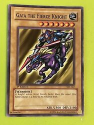 YUGIOH GAIA THE FIERCE KNIGHT 1st ED SYE 007 COMMON NM CARD $5.99