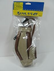 New in Package Build a Bear Workshop Golf Clubs with Bag Bear Stuff $13.99