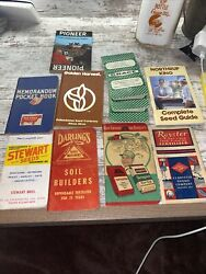 Lot Of 11 Fertilizer amp; Seed Corn Pocket Notebooks Armour Grace Royster Swifts $9.00