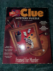 1995 Framed for Murder CLUE mystery read the story complete the PUZZLE $17.00