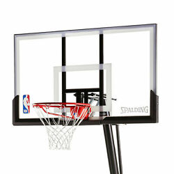 NBA Spalding 54quot; Portable Angled Basketball Hoop with Polycarbonate Backboard $271.79