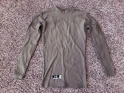 Under Armour ColdGear Tactical Compression Top Olive Green Men#x27;s Size Small $12.95