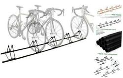 5 Bike Floor Rack Sports Bicycle Storage Stand for 5 Bikes Cycling Floor $86.57