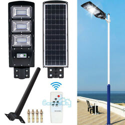 90W Commercial LED Solar Street Light IP67 Dusk to Dawn Road LampRemotePole
