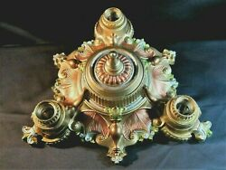 Art Deco Antique Chandelier 3 Light Old Theater Style Restored Ceiling Mount $425.95