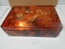 sewing Plastic Vintage box of sewing things $12.99